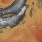 Escasas las precipitaciones en gran parte del país debido a una masa de aire seco y polvo del Sahara